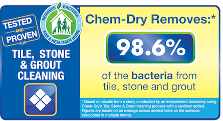 Chem-Dry Select removes 98.6% of the bacteria from stone, tile and grout in Arlington WA with our superior tile and grout cleaner